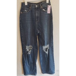 Distressed Highest Rise Baggy Jeans 8/29R Ripped